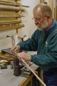 Ron Barch, bamboo rod maker